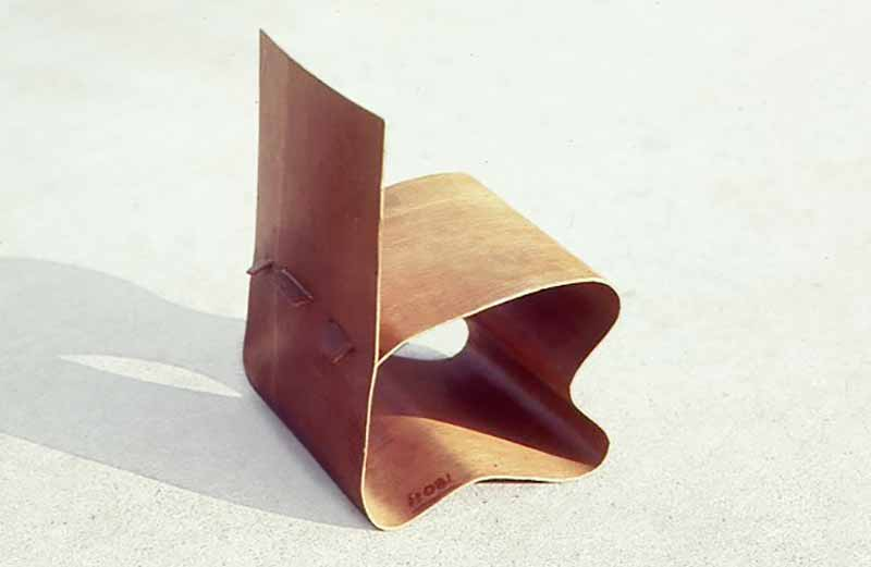 David Rowland 1949 molded veneer chair back angle
