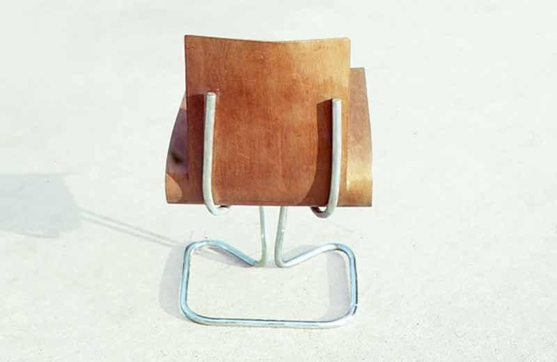 David Rowland 1949 molded veneer chair back