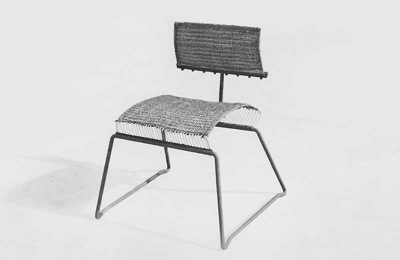 David Rowland 1950 magic carpet chair front angle