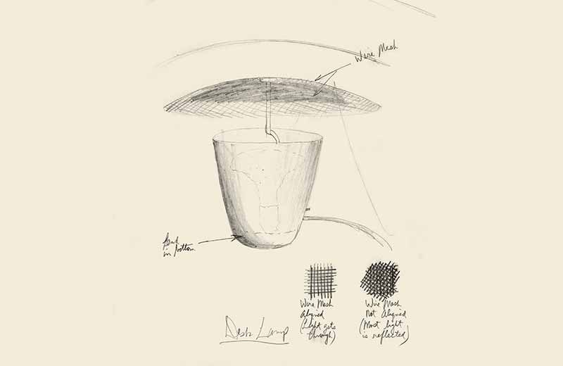 David Rowland 1951 lamp sketch 1