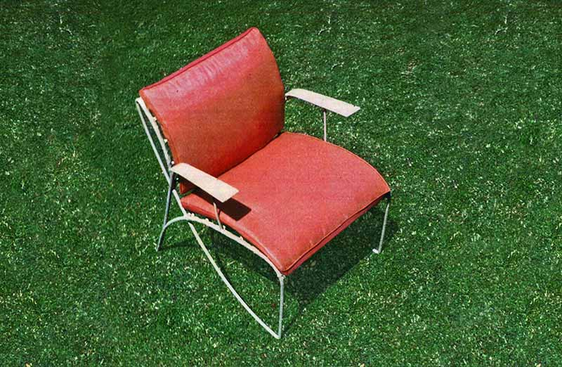 David Rowland 1952 outdoor chair red