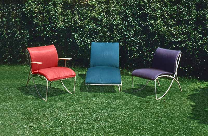 David Rowland 1952 three outdoor chairs