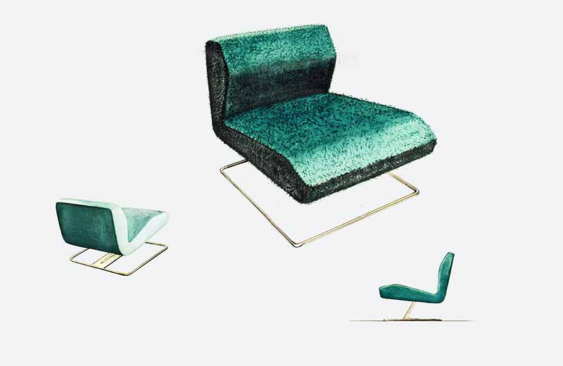 David Rowland 1953 lounge chair green