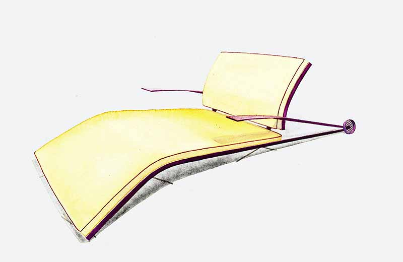 David Rowland 1953 lounge chair yellow