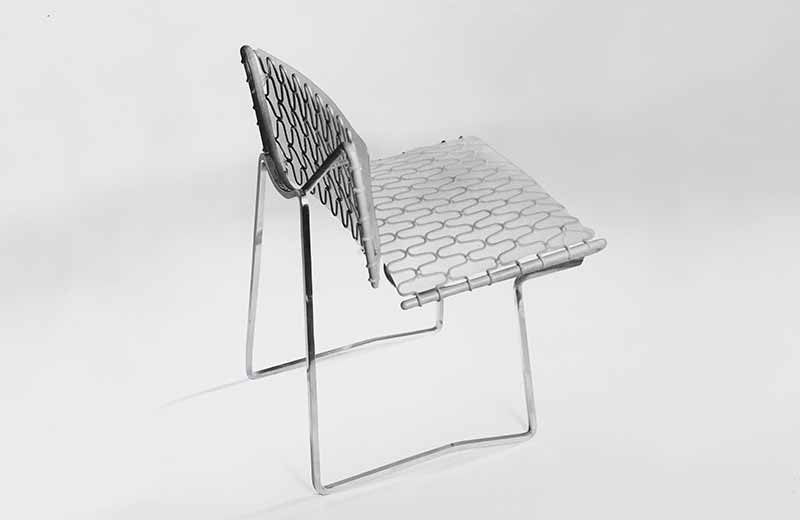 David Rowland 1957 zigzag cantilever chair back