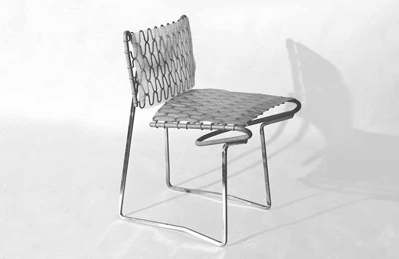 David Rowland 1957 zigzag cantilever chair front