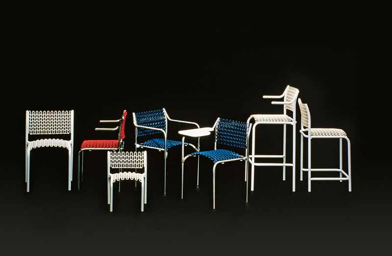 David Rowland 1979 Softec Chair colors black