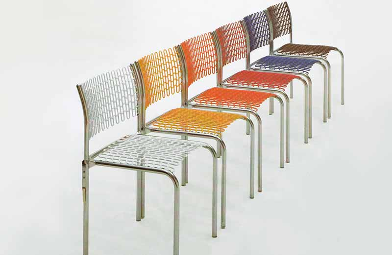 David Rowland 1979 Softec Chair colors white