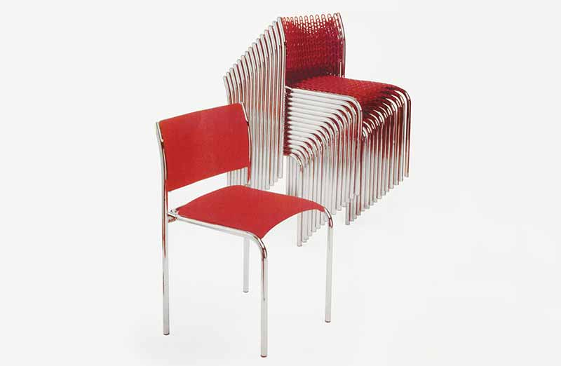 David Rowland 1979 Softec Chair red
